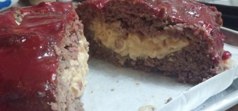 Meatloaf stuffed with Mac and Cheese