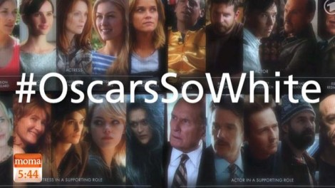 #OscarsSoWhite hashtag taking over social media. (Daserste.de)